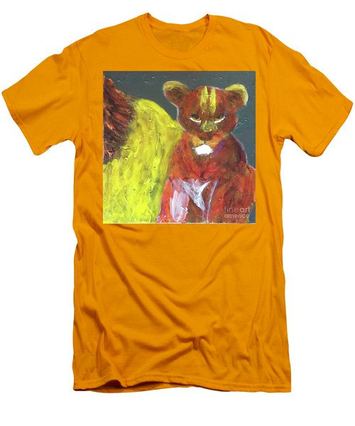 Men's T-Shirt (Athletic Fit) featuring the painting Lion Family Part 6 by Donald J Ryker III
