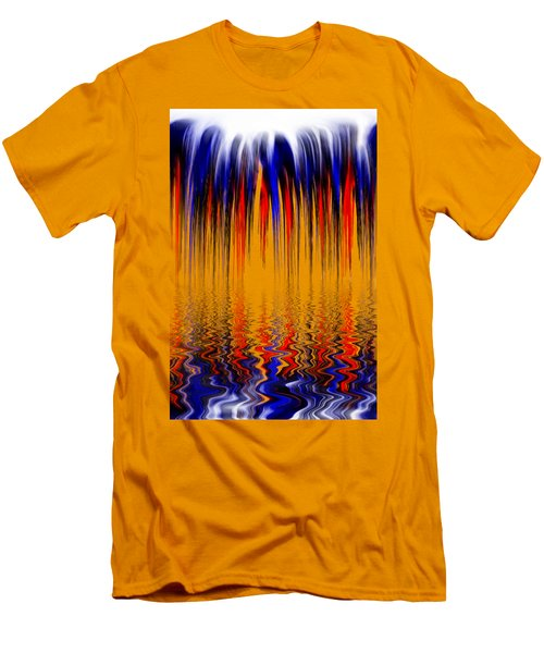 Liquid Overflow By Kaye Menner Men's T-Shirt (Slim Fit) by Kaye Menner