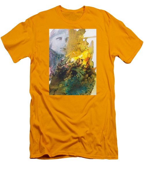 Men's T-Shirt (Slim Fit) featuring the painting Llywelyn From Luxembourg by Ed  Heaton