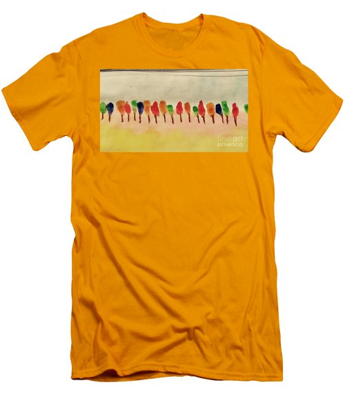 Lollipop Trees Men's T-Shirt (Athletic Fit)