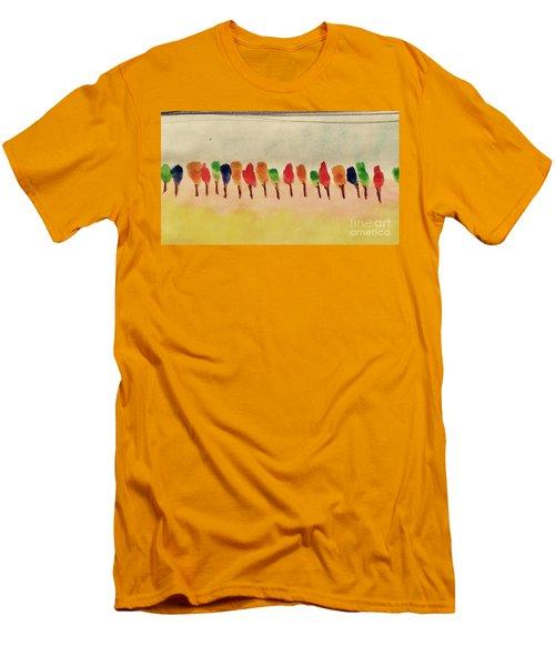 Lollipop Trees Men's T-Shirt (Athletic Fit)