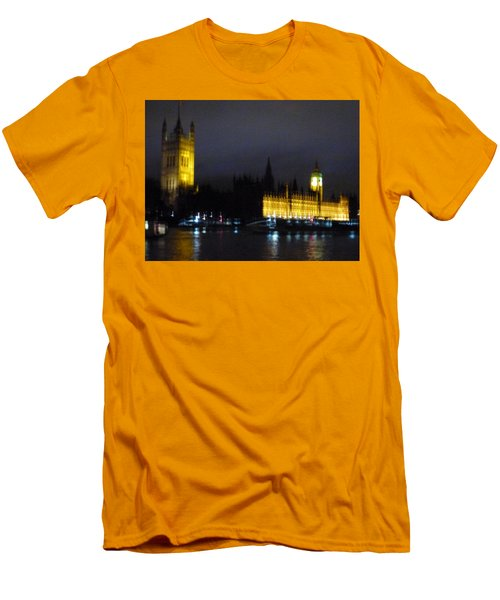 Men's T-Shirt (Slim Fit) featuring the photograph London Late Night by Christin Brodie