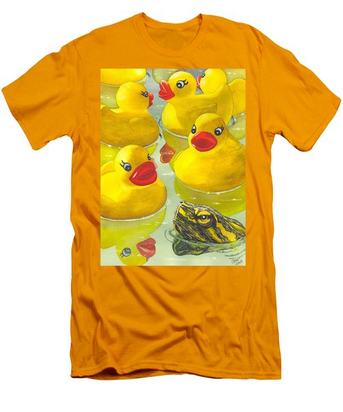 Look Its A Turtle Head Men's T-Shirt (Athletic Fit)