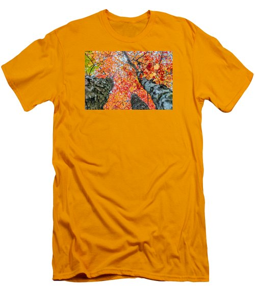 Men's T-Shirt (Slim Fit) featuring the photograph Looking Up - 9743 by G L Sarti
