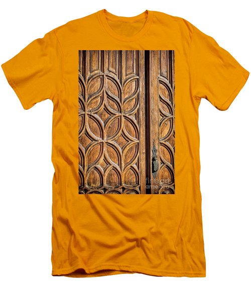 Men's T-Shirt (Slim Fit) featuring the photograph Loretto Doorway by Gina Savage