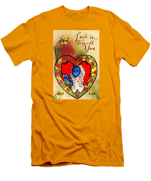 Love Is Men's T-Shirt (Slim Fit) by Diana Boyd