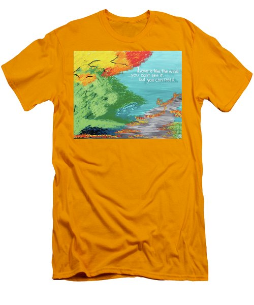 Love Like The Wind Men's T-Shirt (Slim Fit) by Cyrionna The Cyerial Artist