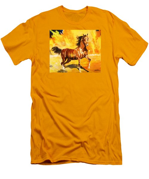 Lone Mustang Men's T-Shirt (Slim Fit) by Al Brown