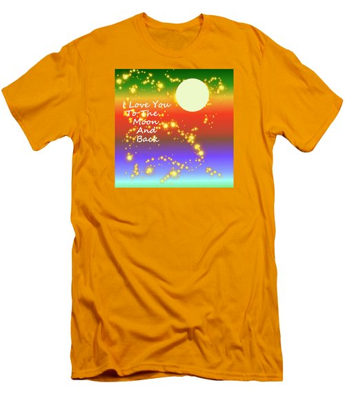 Men's T-Shirt (Slim Fit) featuring the digital art Love You To The Moon And Back by Kathleen Sartoris