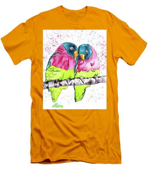 Lovebirds Men's T-Shirt (Athletic Fit)
