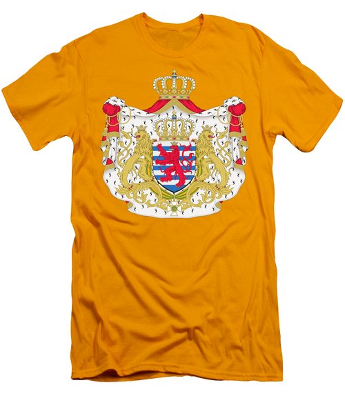 Luxembourg Coat Of Arms Men's T-Shirt (Slim Fit) by Movie Poster Prints