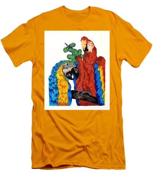 Macaws Men's T-Shirt (Athletic Fit)