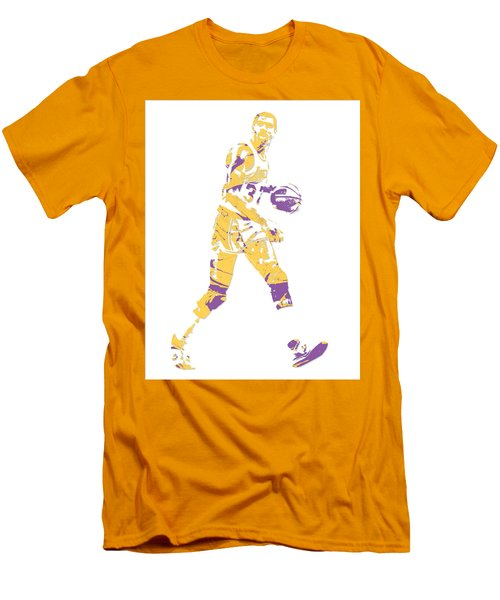 Magic Johnson Los Angeles Lakers Pixel Art 5 Men's T-Shirt (Athletic Fit)