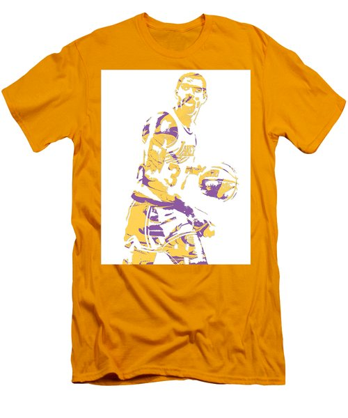 Magic Johnson Los Angeles Lakers Pixel Art 6 Men's T-Shirt (Athletic Fit)