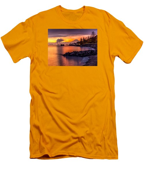 Magical Sunrise On Commencement Bay Men's T-Shirt (Slim Fit) by Rob Green