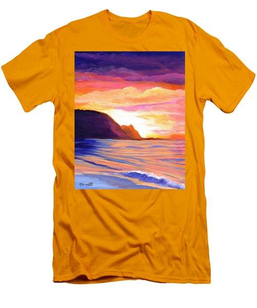 Makana Sunset Men's T-Shirt (Slim Fit) by Marionette Taboniar