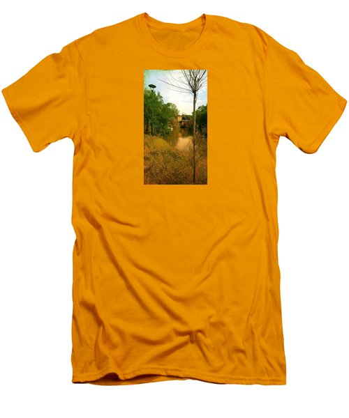Men's T-Shirt (Slim Fit) featuring the photograph Malamocco Canal No2 by Anne Kotan