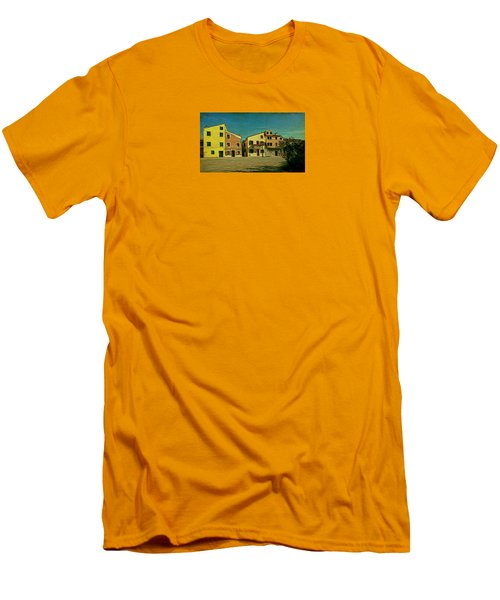 Men's T-Shirt (Slim Fit) featuring the photograph Malamocco Main Street No1 by Anne Kotan