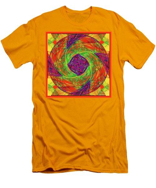 Men's T-Shirt (Slim Fit) featuring the digital art Mandala #55 by Loko Suederdiek