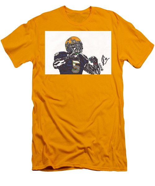 Manti Te'o 1 Men's T-Shirt (Slim Fit) by Jeremiah Colley