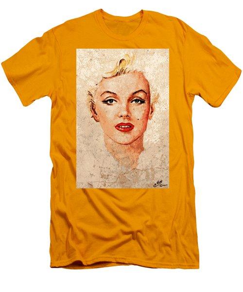 Marilyn Seductive Mix Men's T-Shirt (Athletic Fit)