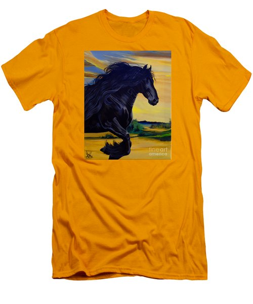 Friesian Paradise Men's T-Shirt (Athletic Fit)