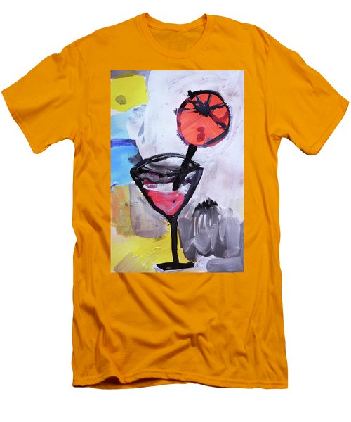 Martini And Orange Men's T-Shirt (Slim Fit) by Amara Dacer