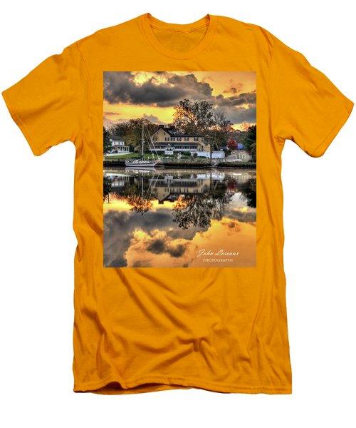 Mays Landing Sunrise Men's T-Shirt (Slim Fit) by John Loreaux