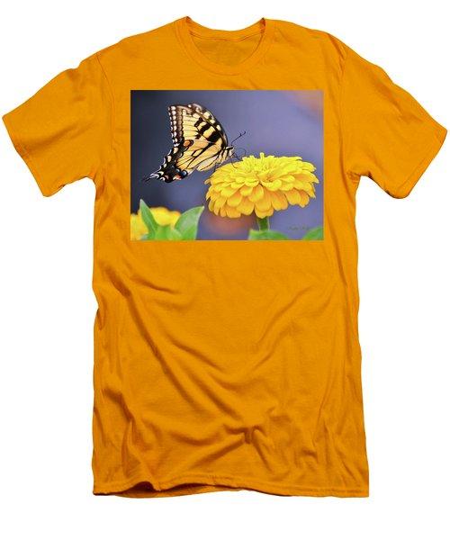 Mellow Yellow Men's T-Shirt (Slim Fit) by Kathy Kelly