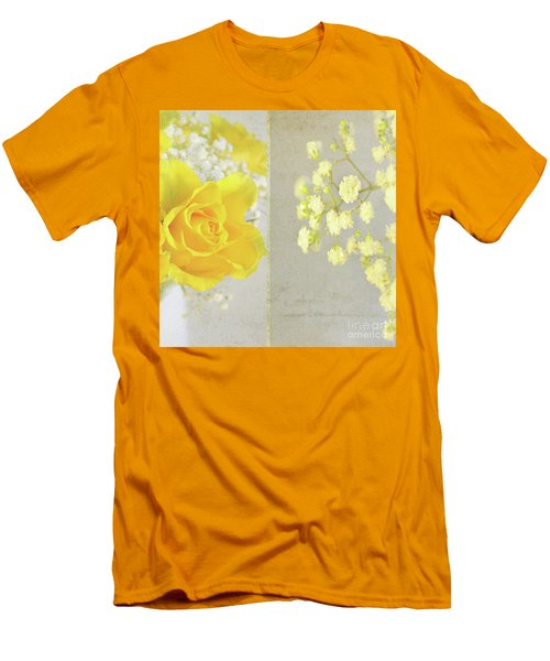 Men's T-Shirt (Slim Fit) featuring the photograph Mellow Yellow by Lyn Randle