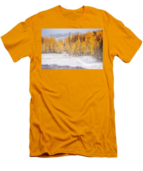 Men's T-Shirt (Slim Fit) featuring the photograph Merging Seasons by Kristal Kraft