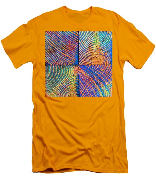 Men's T-Shirt (Slim Fit) featuring the photograph  Rainbow Powerwood by John King
