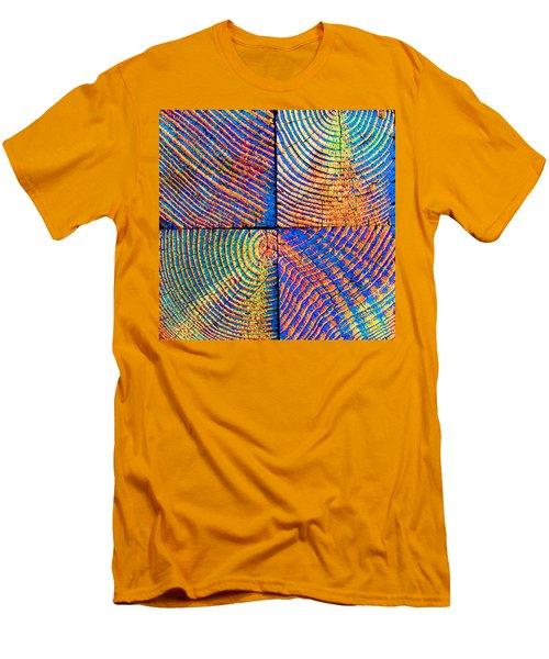 Rainbow Powerwood Men's T-Shirt (Athletic Fit)