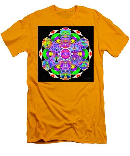 Men's T-Shirt (Athletic Fit) featuring the digital art Metatron's Cosmic Ascension by Derek Gedney