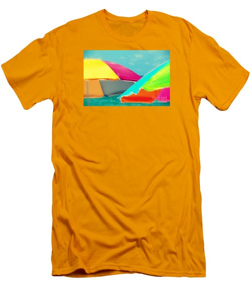 Men's T-Shirt (Slim Fit) featuring the photograph Miami Beach 1 by France Laliberte