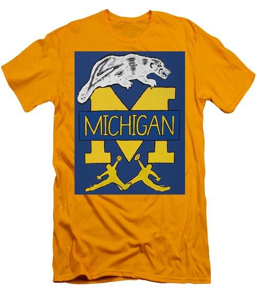 Michigan Wolverines Men's T-Shirt (Slim Fit) by Jonathon Hansen