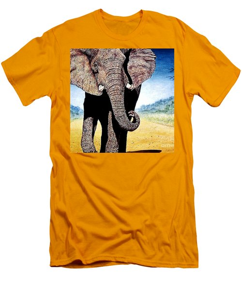 Mighty Elephant Men's T-Shirt (Athletic Fit)