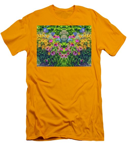 Flowers Pareidolia Men's T-Shirt (Athletic Fit)