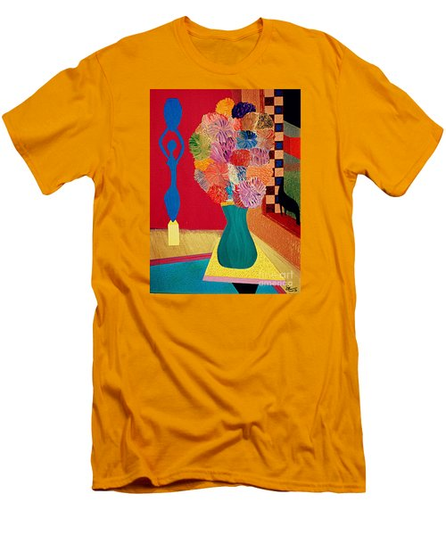 Men's T-Shirt (Slim Fit) featuring the painting Missing Henri by Bill OConnor