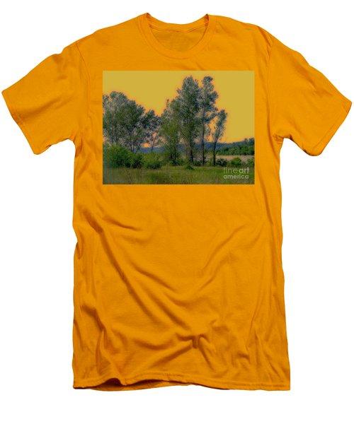 Mississippi Estuary Men's T-Shirt (Slim Fit) by Nancy Kane Chapman