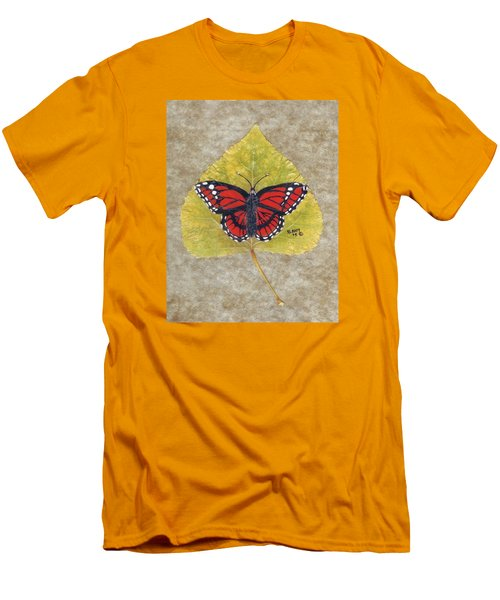 Monarch Butterfly Men's T-Shirt (Slim Fit) by Ralph Root