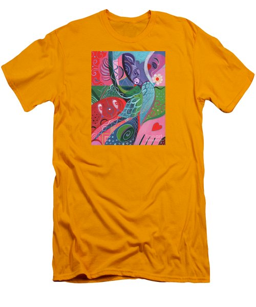 More Love Men's T-Shirt (Slim Fit) by Helena Tiainen
