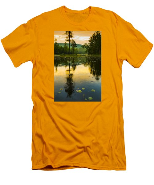 Morning Glow On Lake Men's T-Shirt (Athletic Fit)