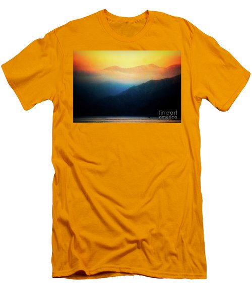Morning Mist Catalina Island California Usa Men's T-Shirt (Athletic Fit)