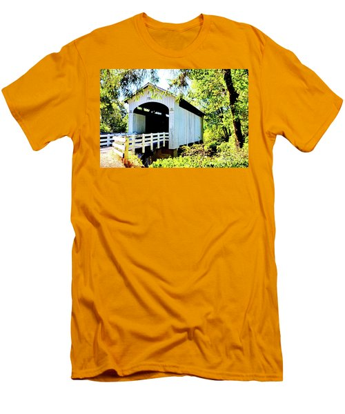 Mosbey Creek Stewart Covered Bridge Men's T-Shirt (Athletic Fit)