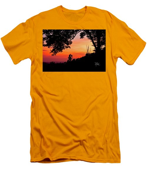 Mountain Sunrise Men's T-Shirt (Slim Fit) by Meta Gatschenberger