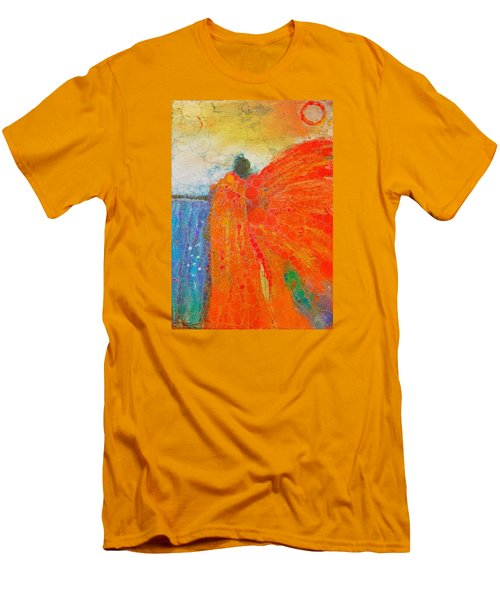 Mprints - Angel Of The Morning Men's T-Shirt (Slim Fit) by M Stuart
