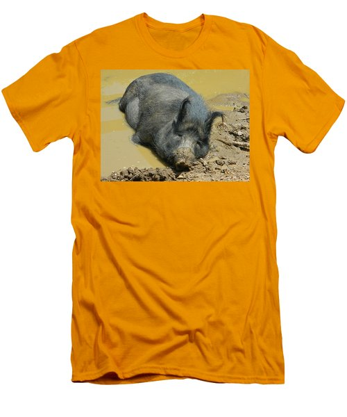 Mud Spa Men's T-Shirt (Slim Fit) by Emmy Marie Vickers