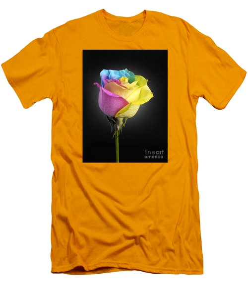 Rainbow Rose 1 Men's T-Shirt (Athletic Fit)