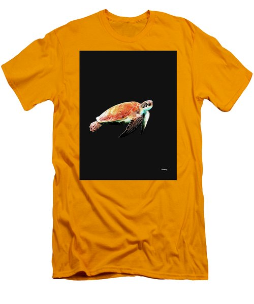 Men's T-Shirt (Slim Fit) featuring the digital art Music Notes 31 by David Bridburg